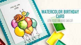 Belated Birthday Card with Gerda Steiner Designs Clear Stamps