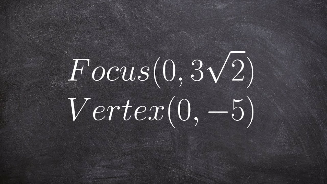 Conics How To Write The Equation Of An Ellipse Given A Vertex And Focus