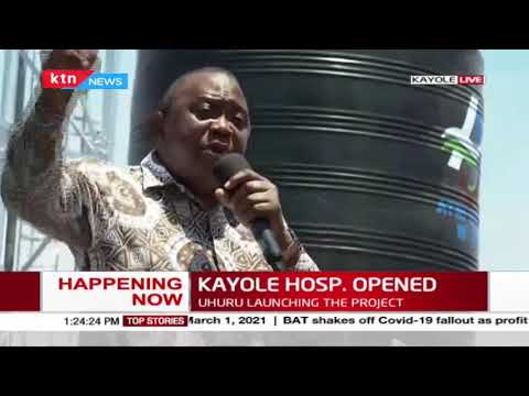 President Uhuru Kenyatta champions for BBI during his commissioning of the Kayole hospital