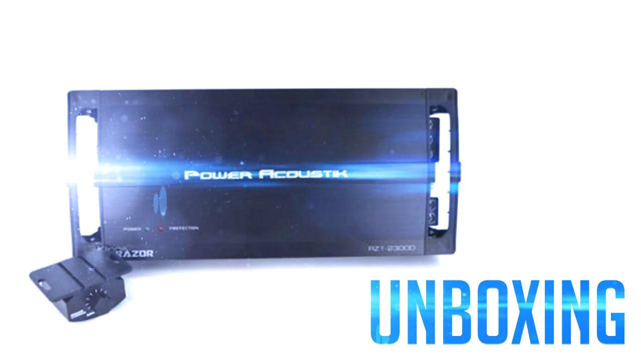 Unboxing the Power Acoustik RZR1-2500D Monoblock