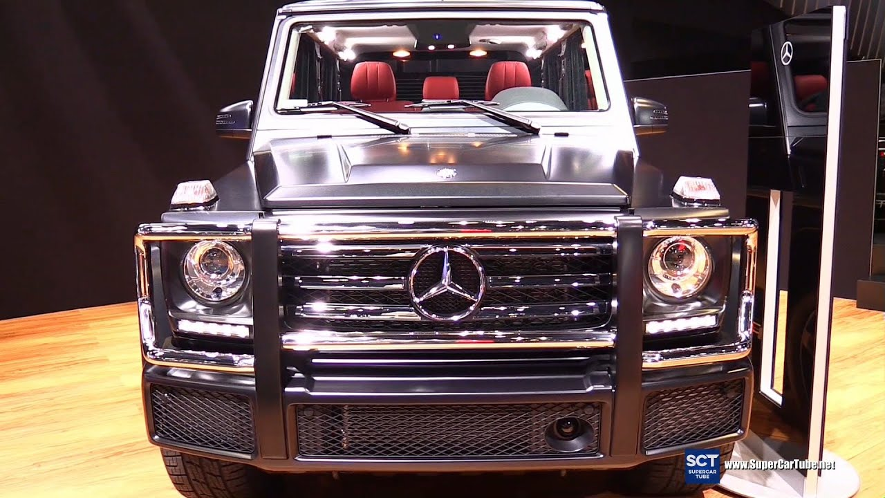 2016 mercedes benz g class g550 v8 exterior and interior walkaround 2015 la auto show youtube - Mercedes G Interior 2015