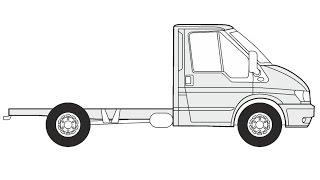 How to Draw a Ford Transit FT 330 K / Как нарисовать Ford Transit FT 330 K