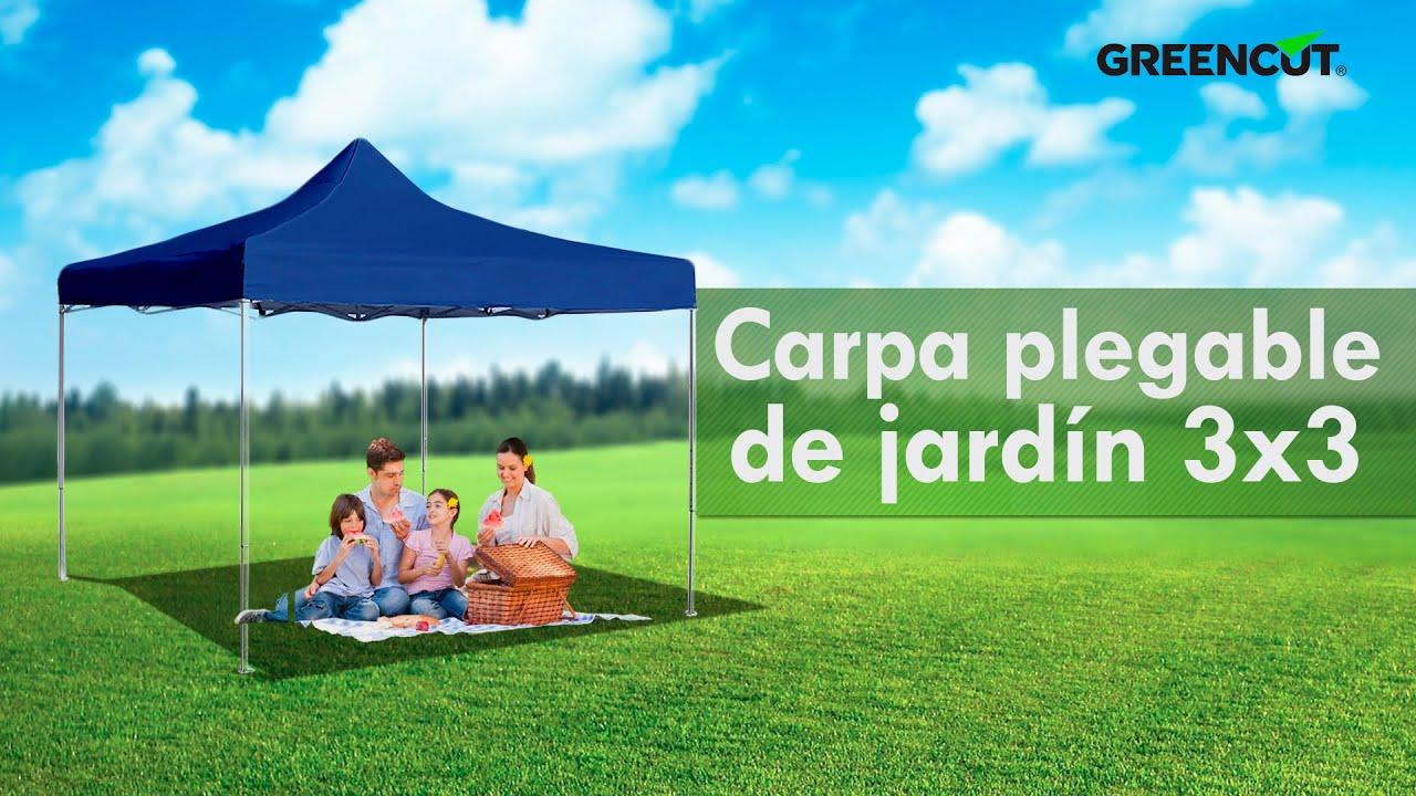 Carpa plegable jard n 3x3 para fiestas eventos doovi for Carpas para jardin