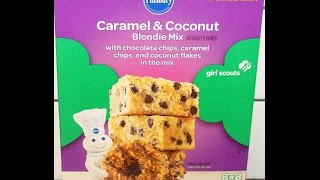 Pillsbury Girl Scouts Caramel & Coconut Blondie Mix Preparation & Review