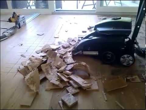 Removing Parquet Wolff Machine Usuwanie Parkietu Youtube