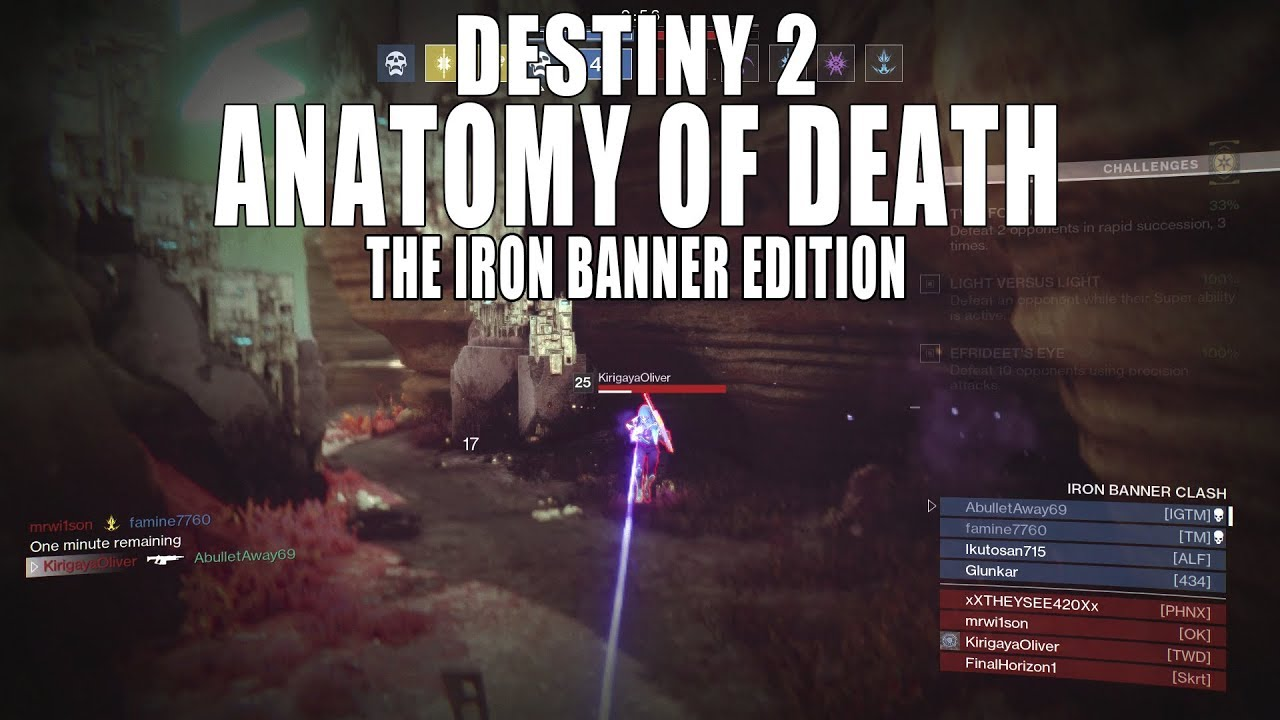 Destiny 2 | Anatomy of Death The Iron Banner Edition - YouTube