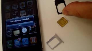 Cut SIM to MicroSIM - How to guide - t-mobile, verizon, AT, sprint, iphone 4, ipad