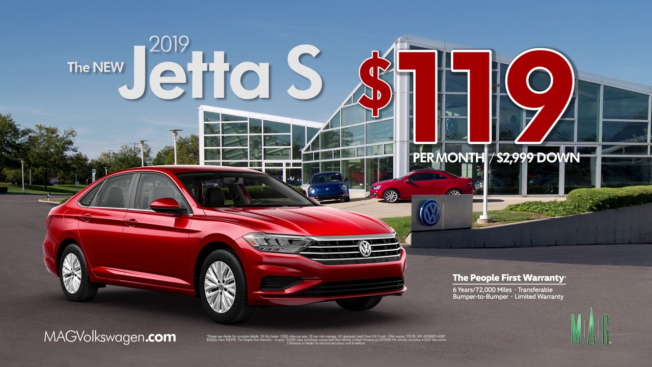 MAG Volkswagen 2019 Jetta July Lease offers - YouTube