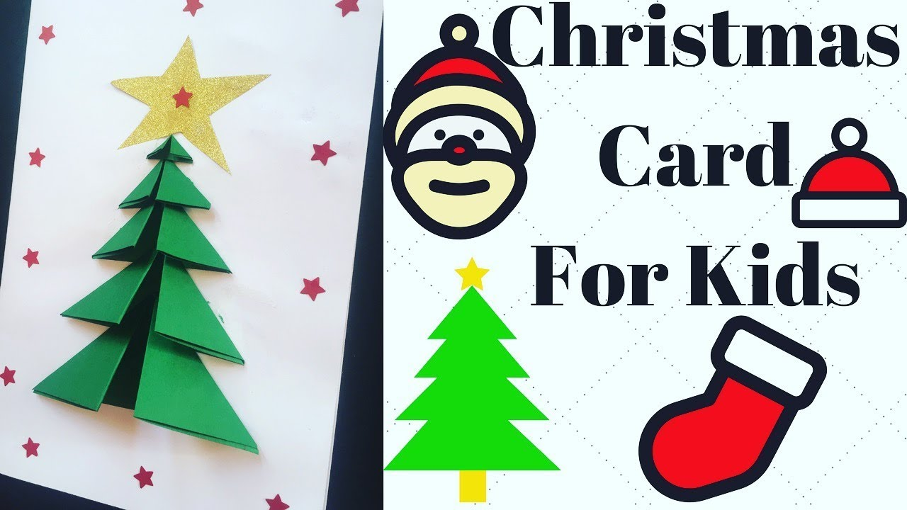Very Easy Christmas Greeting Card For Kids Youtube