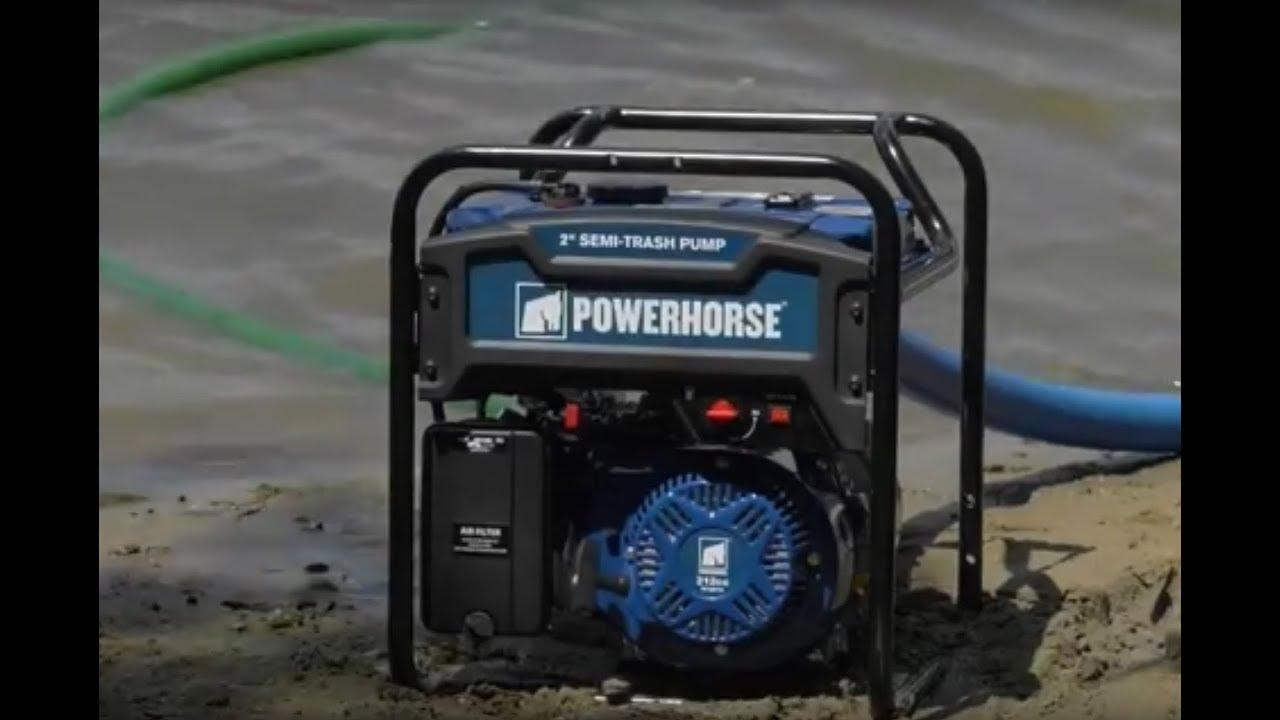 Powerhorse Extended Run Semi Trash Water Pump 3in Ports