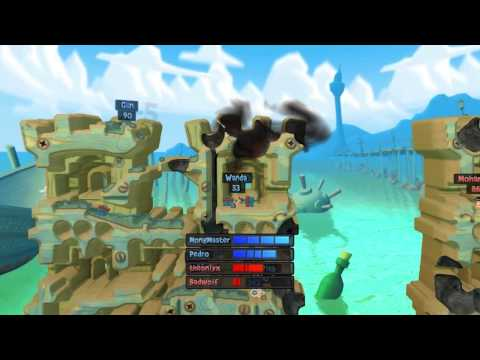 Plebs Playin' Worms Revolution - Game 8 (4P Forts) |