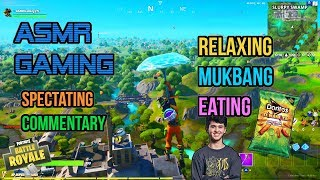 ASMR Gaming | Fortnite Mukbang Eating Bugha's Doritos Dinamita Commentary 먹방 ???????? Whispering????????