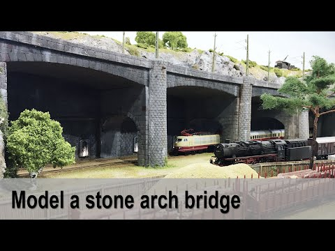 Scratch build realistic stone arch bridge