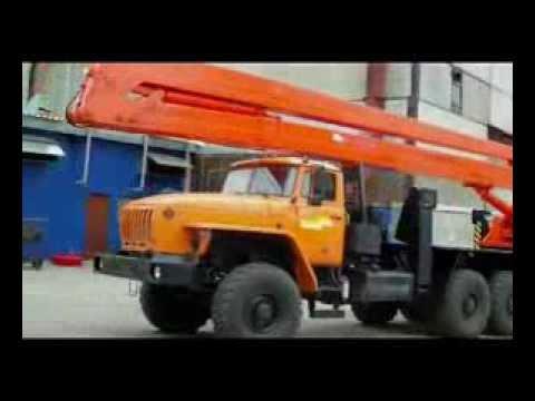 Автогидроподъемник ВС-28У в работе (ОАО Казанский электромеханический завод)