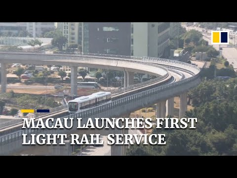Macau's long-delayed light rail service begins carrying passengers