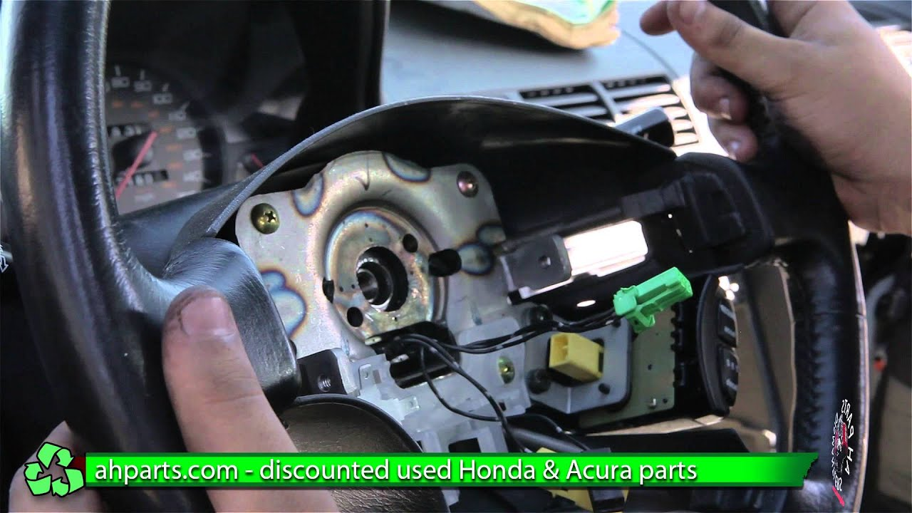 How to install change Steering Wheel 1997 1998 1999 2000 2001 Honda Prelude REPLACEMENT REPLACE