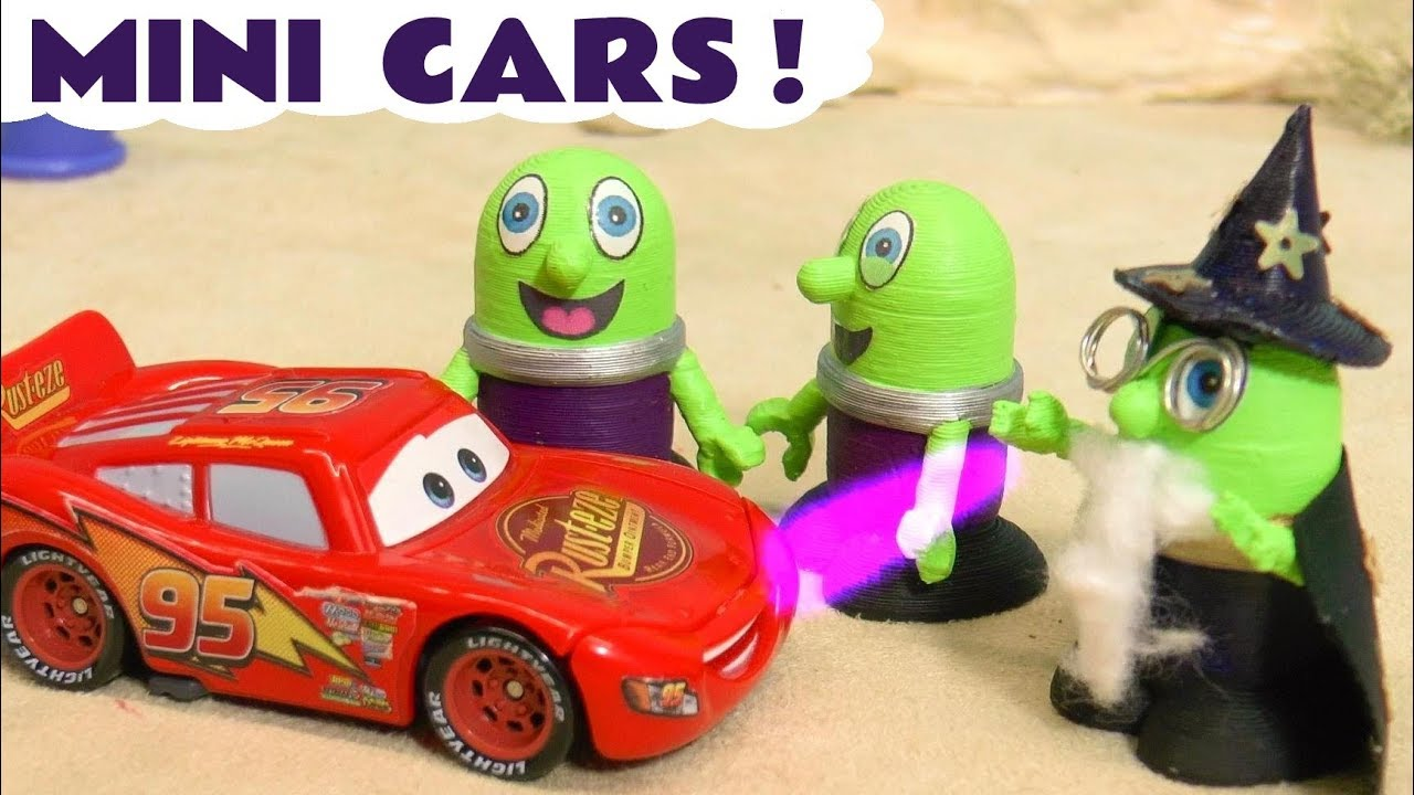 Disney Cars Mini Racers for McQueen with Thomas The Train and Funny Funlings TT4U