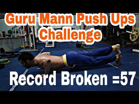 Guru mann push up challenge accepted by my student !!57 push ups @ Devraj Fitness Club!!