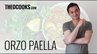 Greek Seafood Paella Recipe By Theo Michaels Masterchef (seafood Risotto And Orzo)