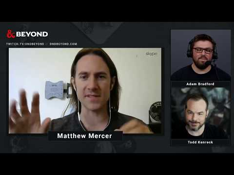 D&D Beyond Live  with Matthew Mercer on the Future, Death, Miniatures and Karaoke