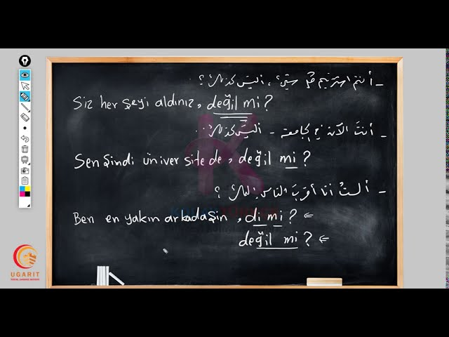 أسماءُ الاستفهام في اللغة التركية الدرس الأول