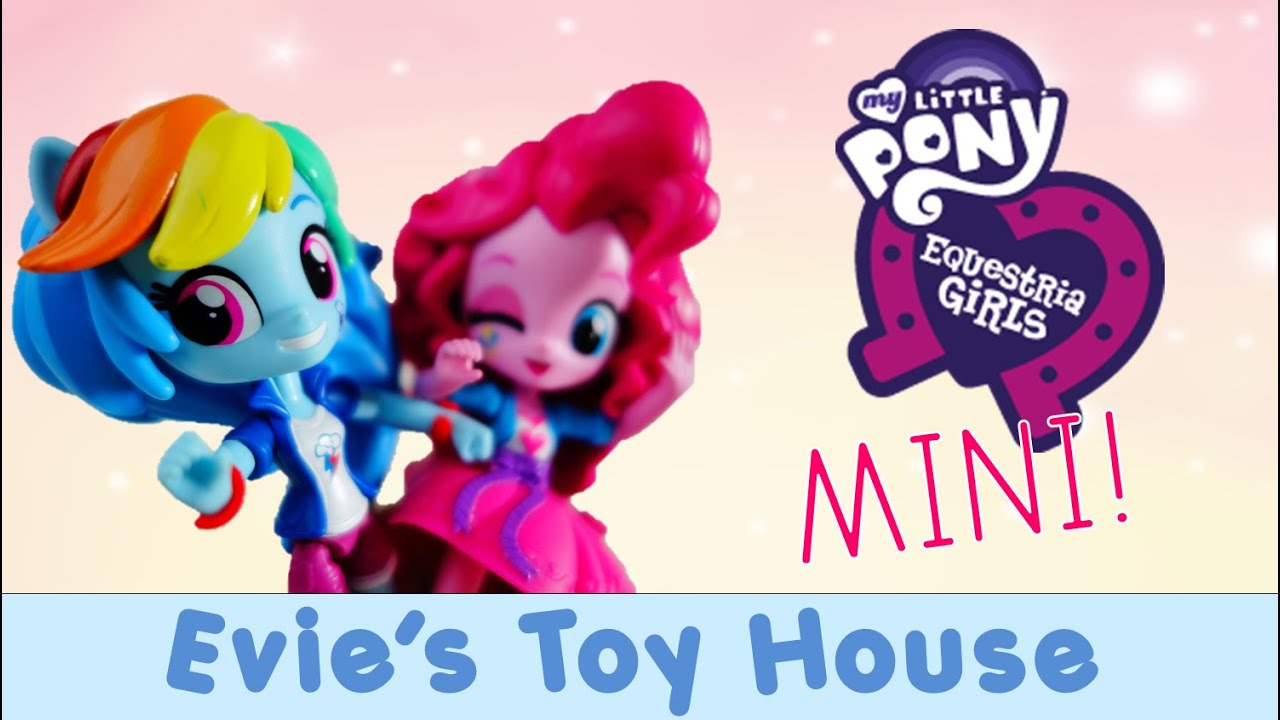 Mlp Equestria Girl Minis Unboxing Rainbow Dash And Pinkie Pie Doll