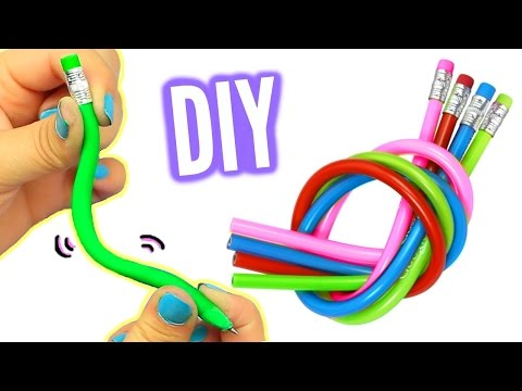 DIY BENDY PENCILS! Make Stretchy Bendy Pencils!