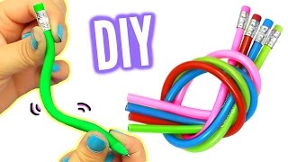 DIY BENDY PENCILS! Make Stretchy Bendy Pencils!