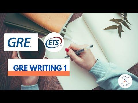 GRE Writing 1 - как написать первое аналитическое сочинение GRE.