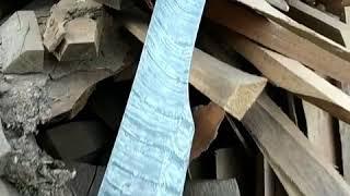 Damascus steel spartan sword  full tang blank blade