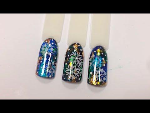 Дизайн ногтей со стемпингом и переводной фольгой