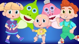 Baby Shark Dance Challenge with Children Nursery Rhymes Songs for Kids