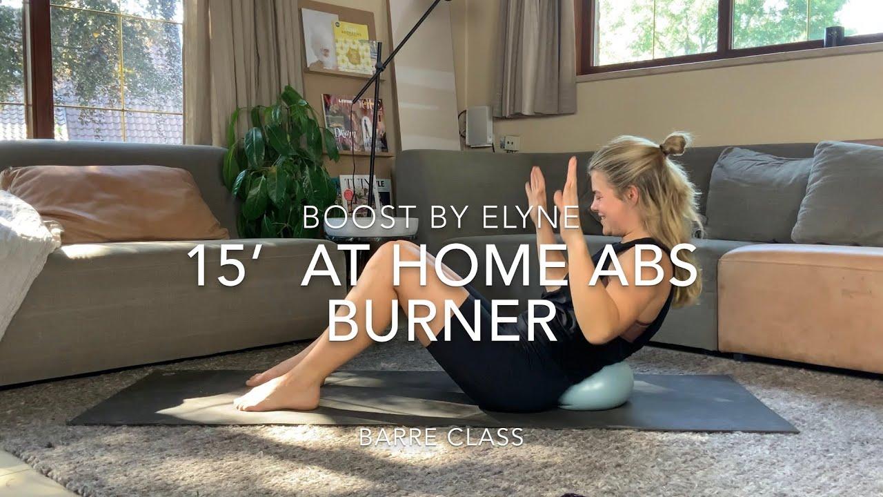 15' AT HOME ABS WORKOUT I Pilatesbal I Barre Class