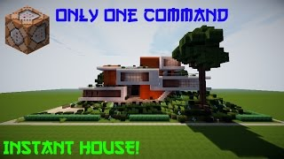 💯Minecraft:MODERN HOUSE IN ONE COMMAND