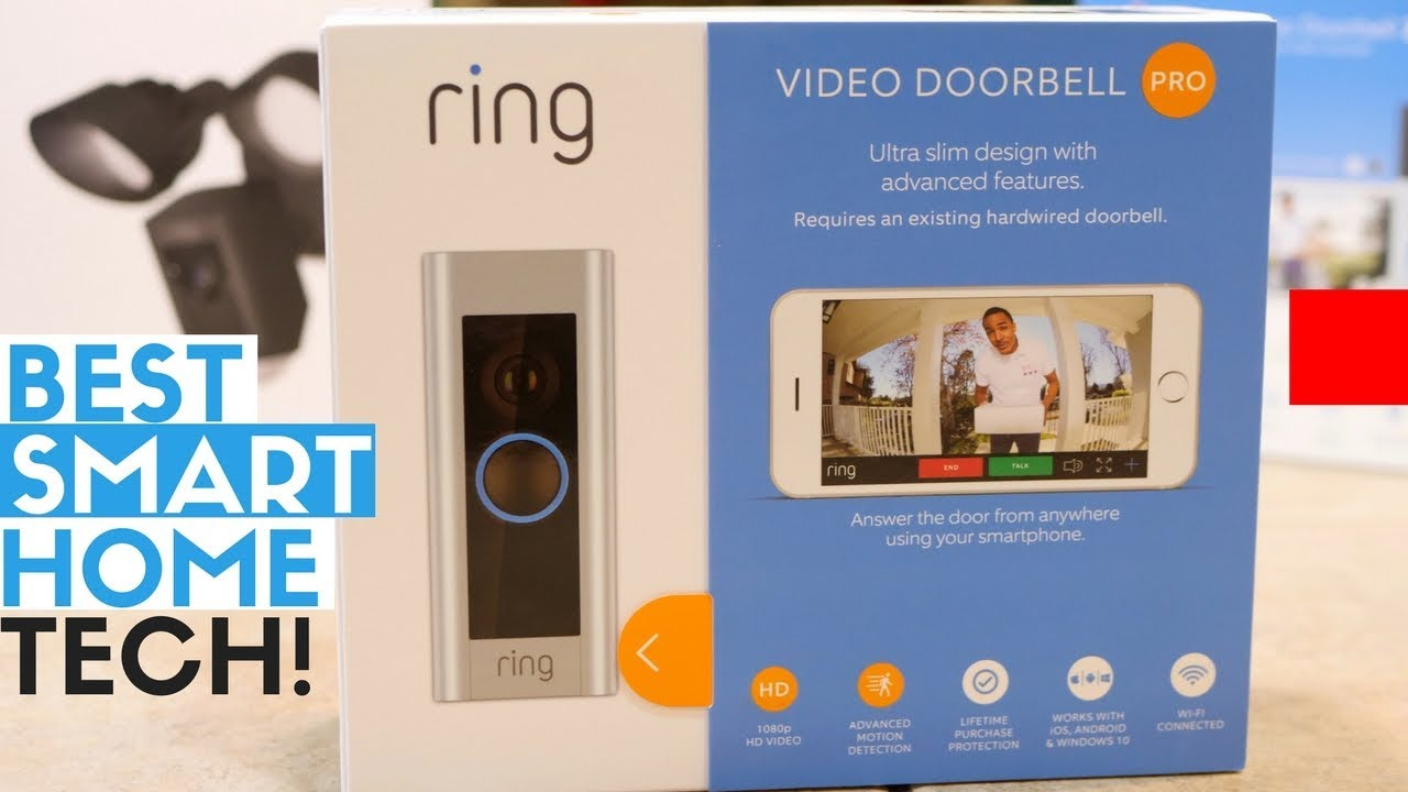 best smart home tech for outdoors ring video doorbell 2 pro ring floodlight cam youtube. Black Bedroom Furniture Sets. Home Design Ideas