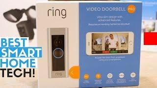 Best Smart Home Tech for Outdoors - Ring Video Doorbell 2, Pro & Ring Floodlight Cam