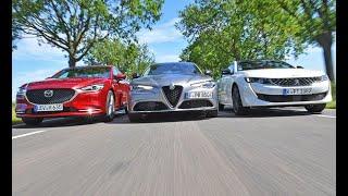 Alfa Romeo Giulia vs Mazda 6 vs Peuggeot 508