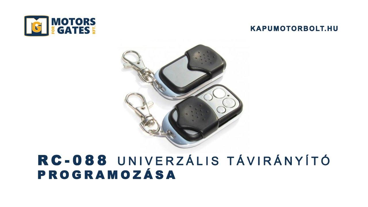 Rc 088 Univerzalis Taviranyito Tanitas Kapumotorbolt Hu Youtube