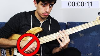 Playing BASS but I CAN