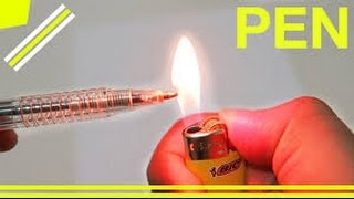 6 AWESOME TRICKS with PENS - 5 awesome tricks with lighters