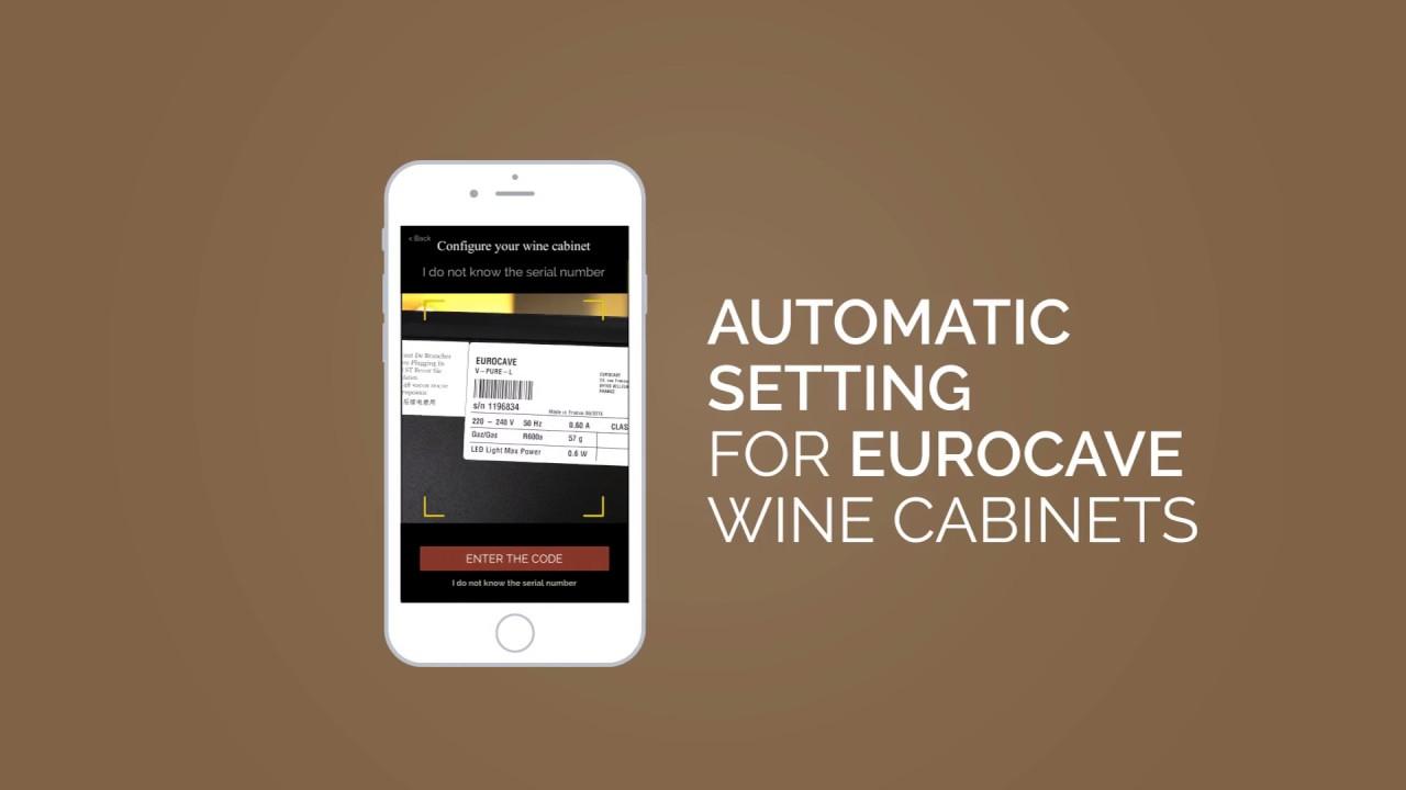 eurocave app short film serial number scan for eurocave wine cabinets