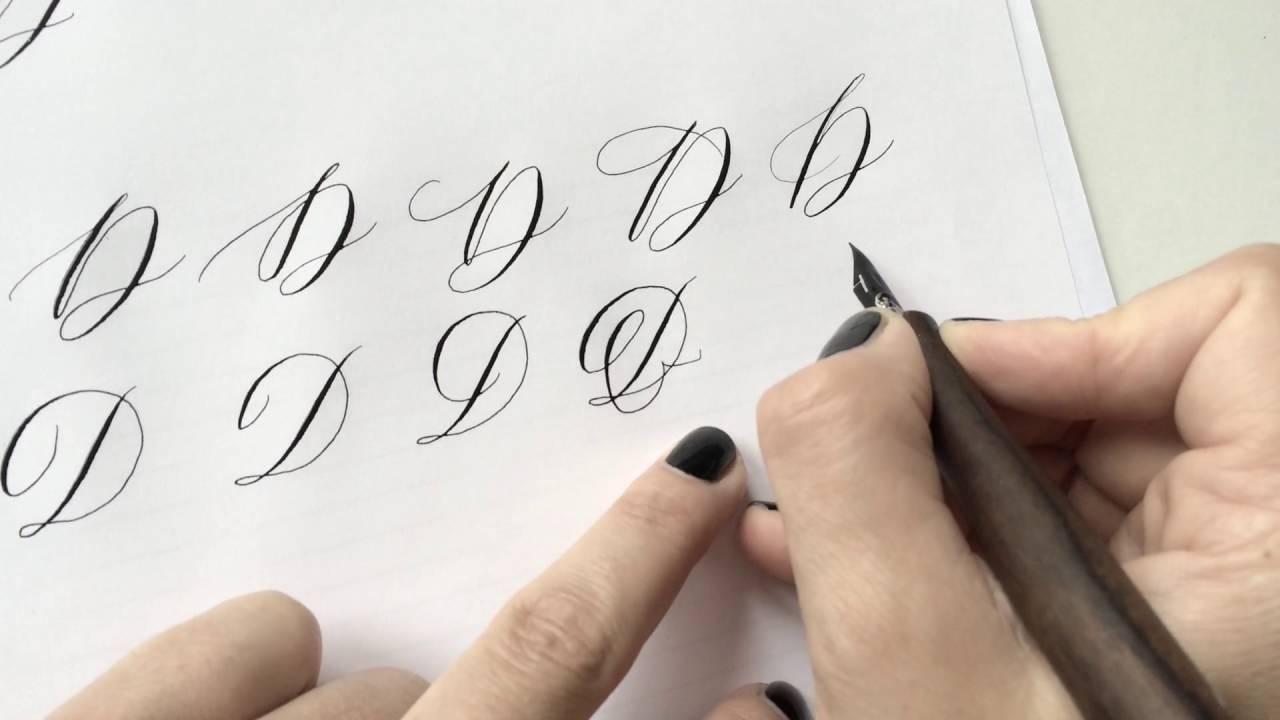 The letter d basic calligraphy tutorial youtube