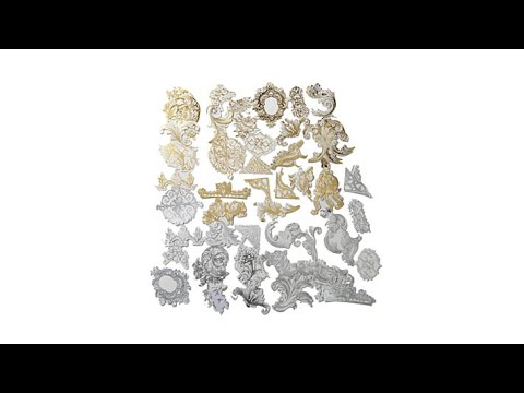 Thumbnail: Anna Griffin Gold and Silver Flourish Stickers