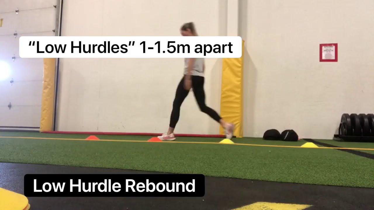Exercise of the week: Low hurdle rebound hops