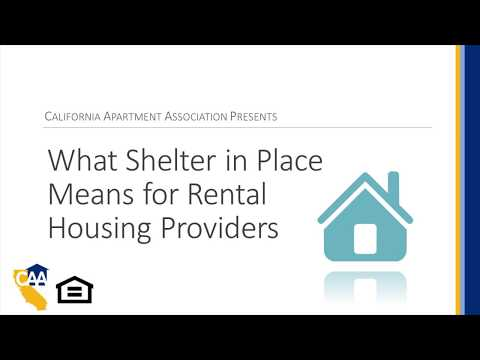 COVID-19 Webinars: What Shelter In Place Means For Rental Housing Providers