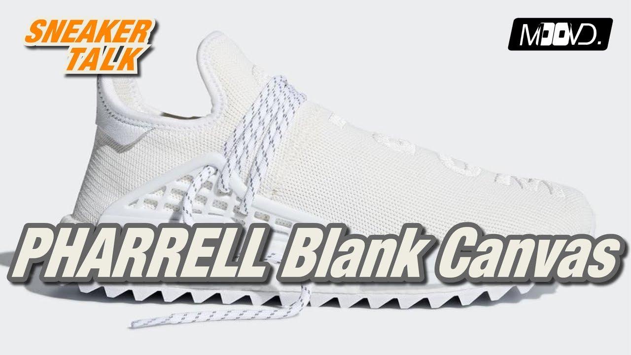 Pharrell Williams x adidas NMD Human Race TR - Blank Canvas