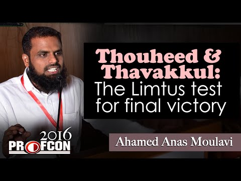 MSM PROFCONᴴᴰ 2016 :: Ahmed Anas Moulavi :: Way of Salvation - via Thoheed & Thawakkul