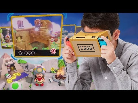 "Captain Toad : Treasure Tracker - Bande Annonce ""Nintendo Labo Kit VR"""
