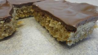 Chocolate Covered Peanut Butter Oat Bars Recipe
