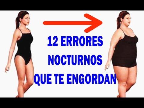 12 ERRORES NOCTURNOS QUE TE ENGORDAN, Hábitos antes de dormir que te hacen subir de peso